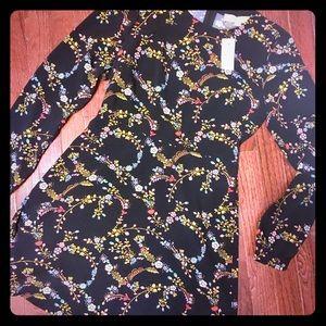 Floral dress size 0 by Loft NEW